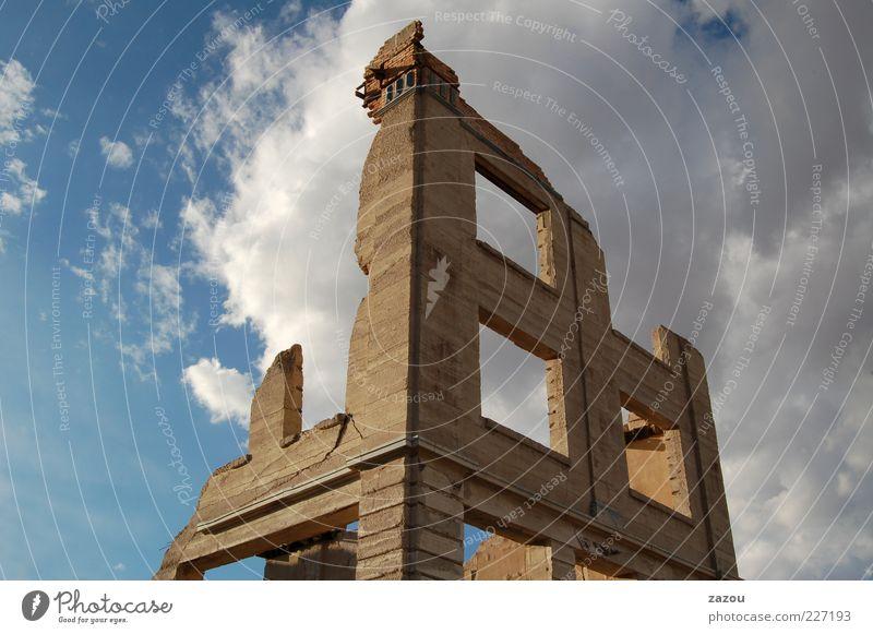 Das Haus am See Ruine Gebäude Mauer Wand Fassade Fenster alt historisch Vergangenheit Vergänglichkeit Zerstörung Verfall USA Amerika Nevada Wüste Geisterhaus