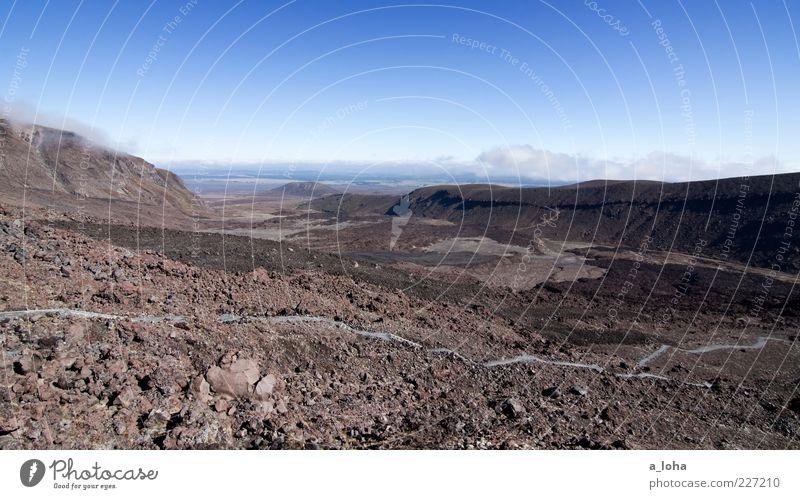 devil's staricase Natur Landschaft Urelemente Erde Luft Himmel Wolken Schönes Wetter Felsen Berge u. Gebirge Gipfel Vulkan Ferne trocken Fernweh Einsamkeit