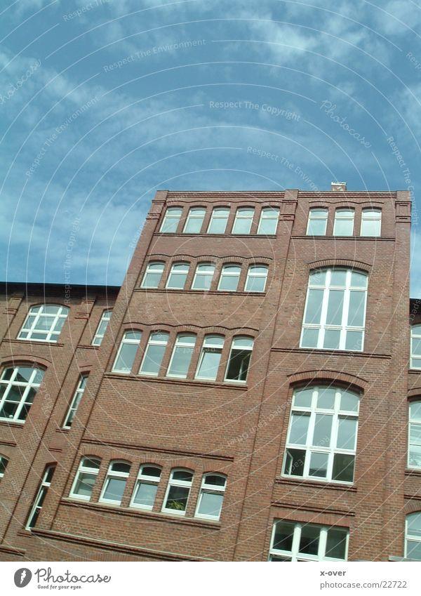 grosses haus Himmel Haus Fenster Architektur Graffiti Fabrik Bielefeld