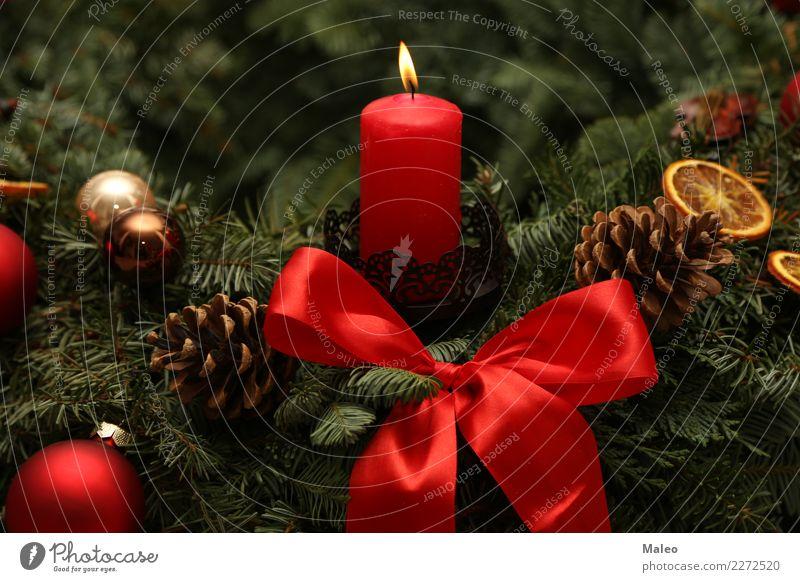 Advent Weihnachten & Advent Dekoration & Verzierung Dezember Feste & Feiern festlich Flamme Fröhlichkeit Glück grün Hintergrundbild Bild Kerze Kerzenschein