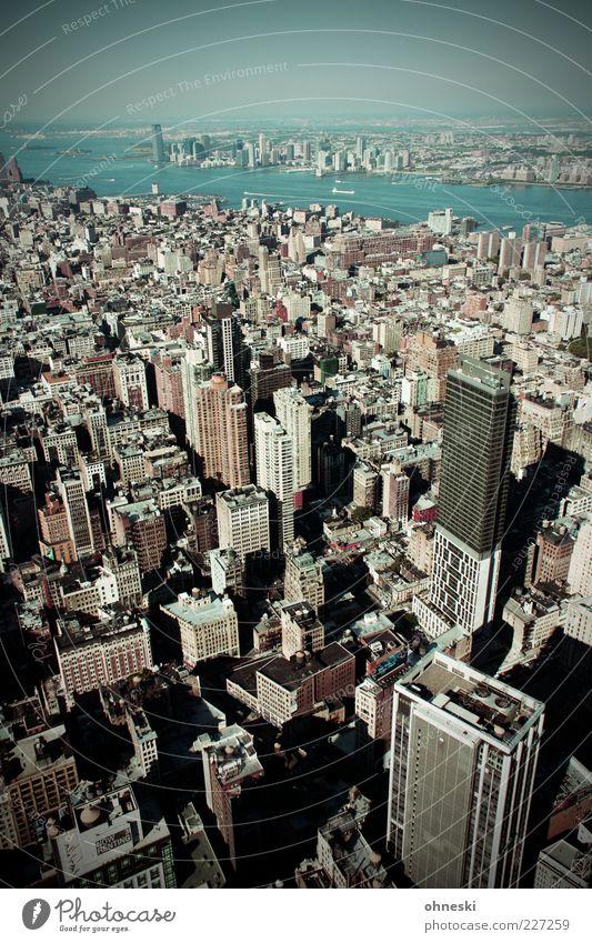 Aussicht Stadt Haus Gebäude Hochhaus USA Reisefotografie Skyline Amerika New York City bevölkert Schatten Stadtentwicklung New Jersey