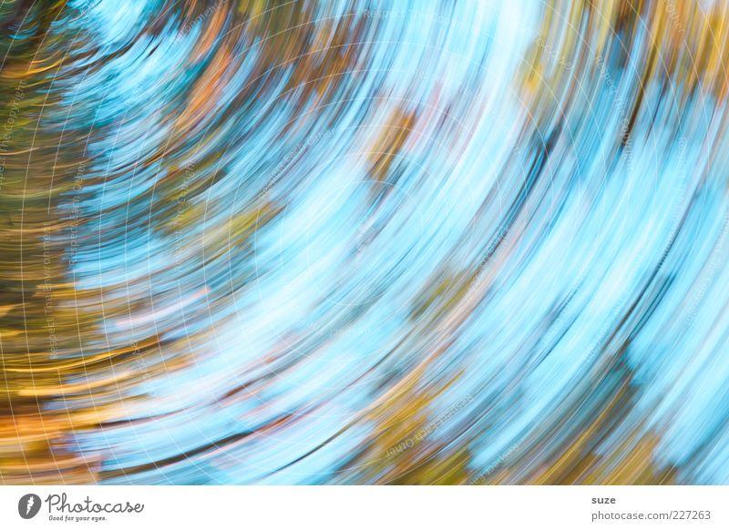 Orientierungslos Natur blau Bewegung Gefühle Herbst außergewöhnlich Kunst Stimmung Angst Design wild verrückt rund Todesangst Sturm Irritation