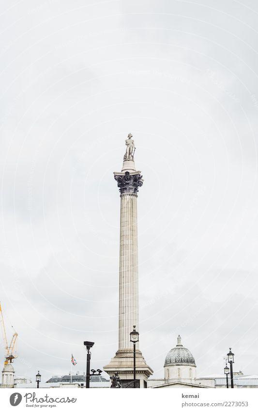 Mr. Nelson Lifestyle Freizeit & Hobby Ferien & Urlaub & Reisen Tourismus Ausflug Freiheit Sightseeing Städtereise Himmel Wolken Wetter London England Hauptstadt