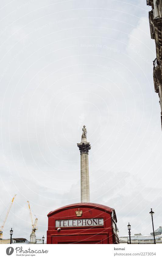 Rotes Telefon(häuschen) Freizeit & Hobby Ferien & Urlaub & Reisen Tourismus Ausflug Sightseeing Städtereise London England Stadt Hauptstadt Stadtzentrum