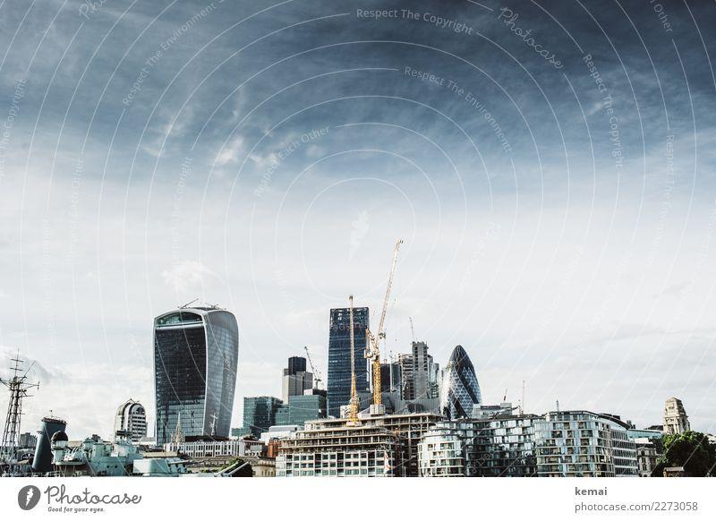 The City of London Himmel Ferien & Urlaub & Reisen Haus Wolken Architektur Leben Lifestyle kalt Gebäude Tourismus Fassade Ausflug Freizeit & Hobby modern