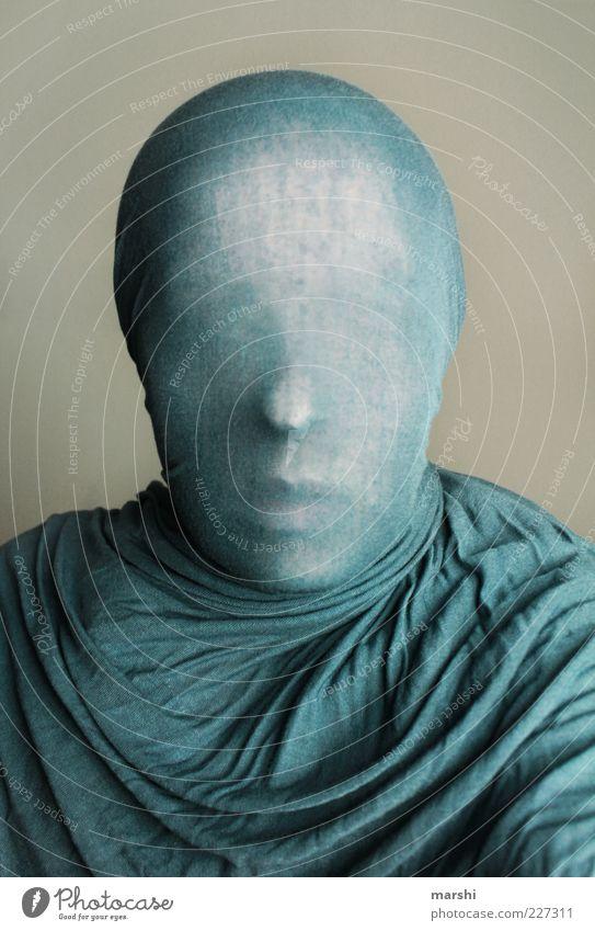 anonyme Hülle Mensch Gesicht Gefühle Kopf Stil außergewöhnlich geheimnisvoll anonym Tuch unklar Hülle verdeckt Schleier außerirdisch verpackt gesichtslos