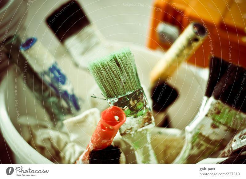 Montagsmaler | Folge 2 weiß grün Arbeit & Erwerbstätigkeit Baustelle Bildung Stress Werkzeug Renovieren Griff Pinsel Textfreiraum Arbeitsplatz Konkurrenz