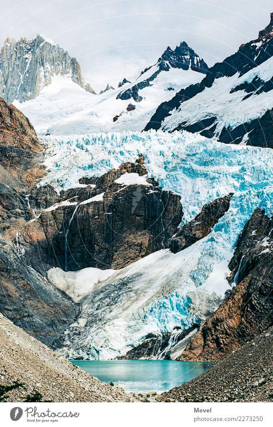 Torres Del Paine Landschaft Urelemente Wasser Klimawandel Schnee Felsen Berge u. Gebirge Gipfel Schneebedeckte Gipfel Gletscher entdecken