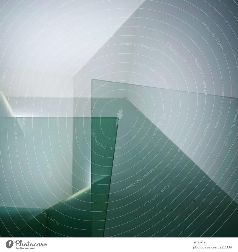 Layers weiß grün Stil Raum Hintergrundbild Design ästhetisch verrückt Innenarchitektur Perspektive Ecke Coolness einzigartig außergewöhnlich