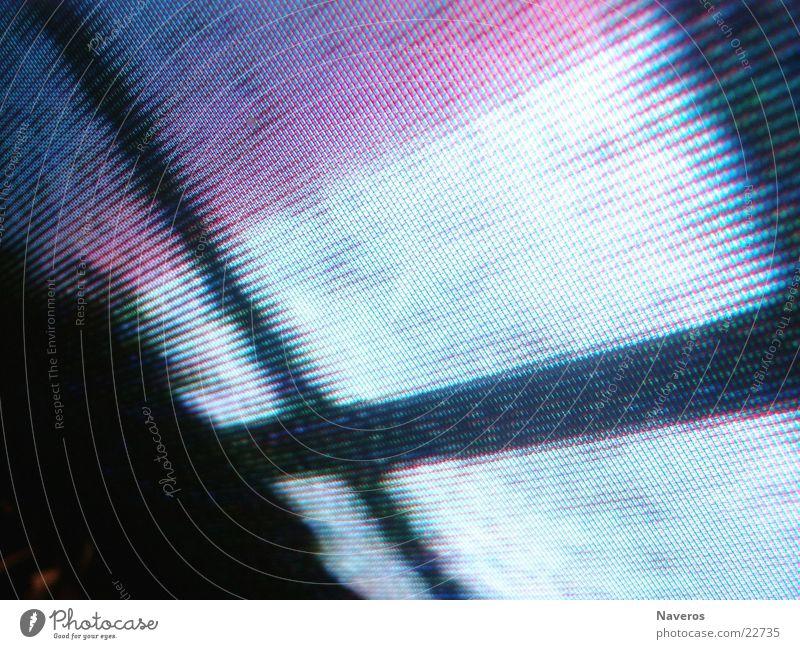Flimmerkiste Fernseher Bildschirm Bildpunkt glänzend Makroaufnahme Nahaufnahme Fernsehn Lochmaske Bildröhre