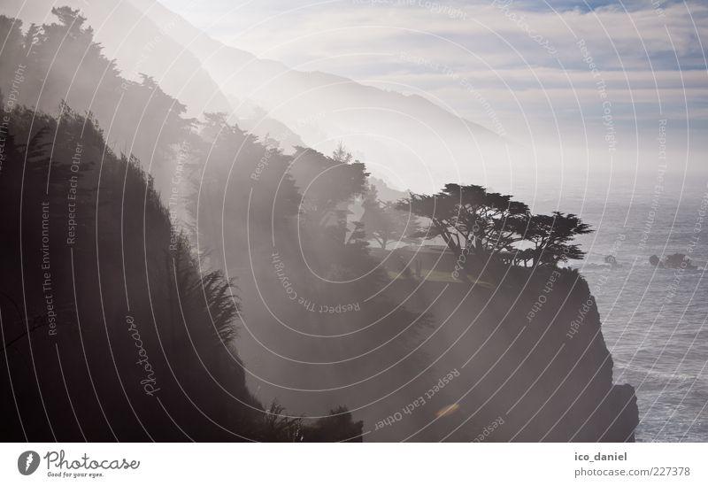 Big Sur - California II Ferien & Urlaub & Reisen Tourismus Ausflug Ferne Freiheit Meer Wellen Natur Landschaft Wasser Himmel Sonnenlicht Schönes Wetter Nebel