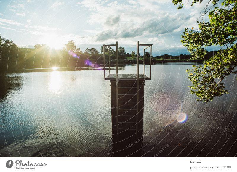 Badewetter Himmel Natur Ferien & Urlaub & Reisen Sommer Wasser Sonne Erholung Wolken ruhig Wärme Lifestyle Spielen Freiheit See Ausflug Zufriedenheit