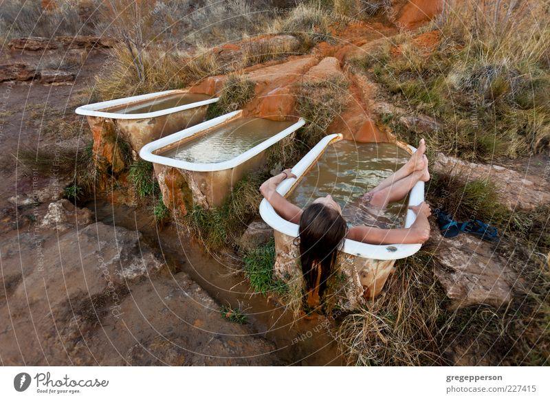 Erholung Zufriedenheit Schwimmen & Baden Badewanne Meditation Wohlgefühl Körperpflege Waschen Spa Perspektive Freizeit & Hobby Aktion