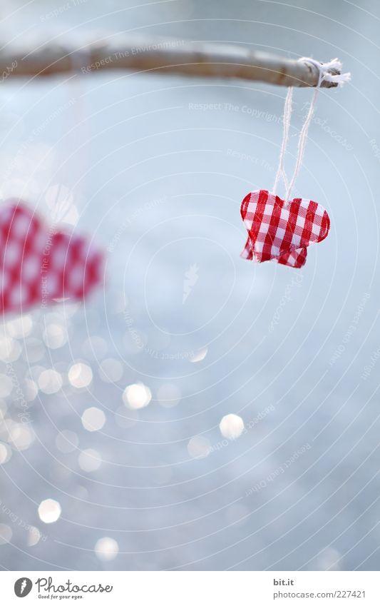 Wie angelt man sich einen .........? ruhig Meditation Feste & Feiern Valentinstag Zeichen Herz glänzend Kitsch blau rot Glück Sympathie Freundschaft
