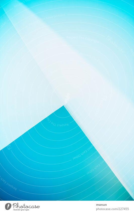 Verlauf blau kalt Wand Stil Mauer Linie hell Design modern ästhetisch verrückt Innenarchitektur Perspektive einzigartig Dekoration & Verzierung verfaulen