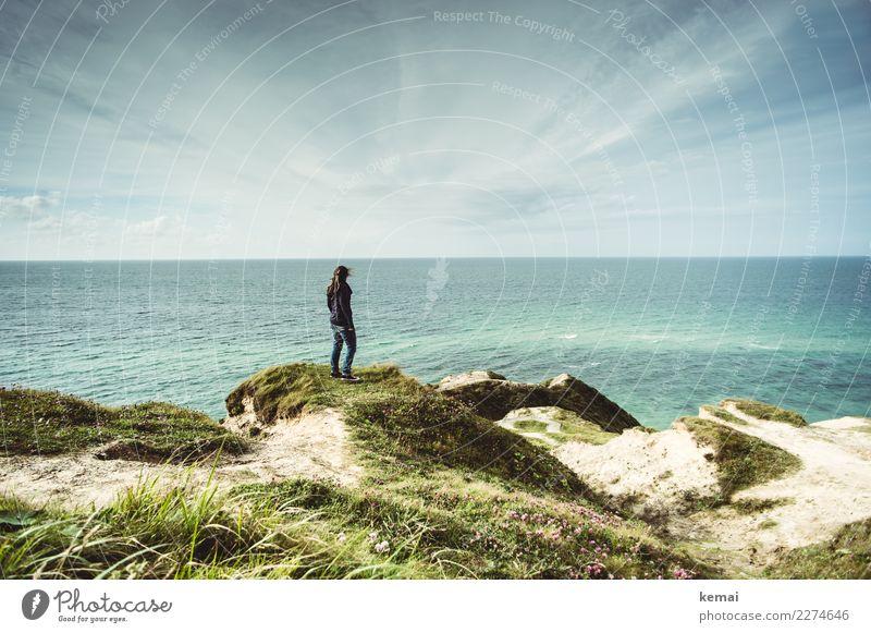 Weite und Meer Lifestyle harmonisch Wohlgefühl Zufriedenheit Sinnesorgane Erholung ruhig Freizeit & Hobby Ferien & Urlaub & Reisen Ausflug Abenteuer Ferne