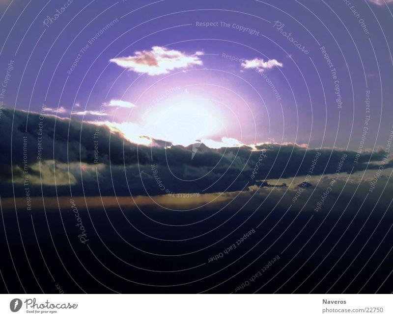 sun of ice Himmel Sonne blau Wolken kalt Aussicht