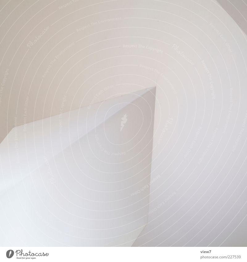 up :: Mauer Wand Zeichen Linie Streifen ästhetisch fantastisch frisch hell modern neu positiv weiß Beginn Ordnung Präzision Pfeil Farbfoto Gedeckte Farben