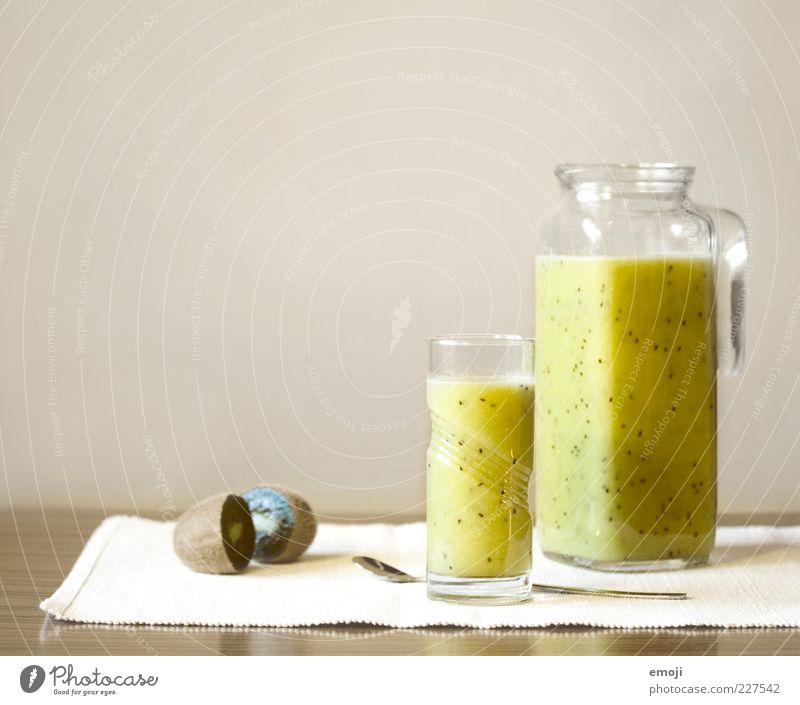 kiwi-banane Frucht Ernährung Diät Getränk Erfrischungsgetränk Saft Glas Löffel exotisch Flüssigkeit lecker Orangensaft Gesundheit gepresst Vitamin vitaminreich