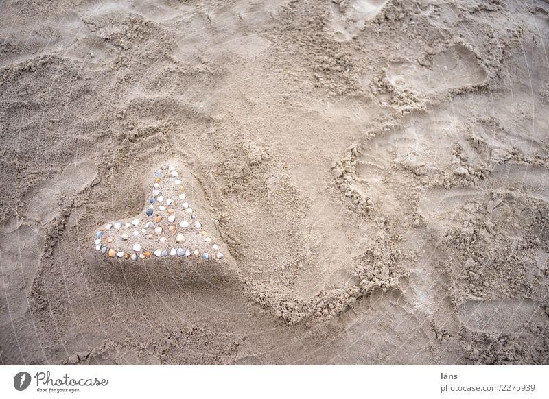 Herz Ferien & Urlaub & Reisen Ausflug Strand Meer Sand Küste Gefühle Freude Glück Fröhlichkeit Zufriedenheit Lebensfreude Frühlingsgefühle Vorfreude Hoffnung