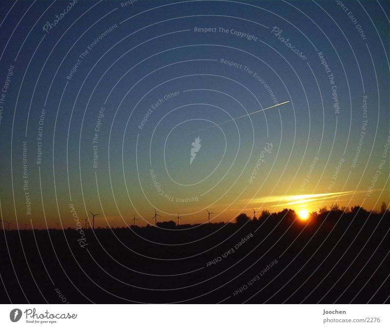 Sundowner Sonnenuntergang Fehmarn Flugzeg