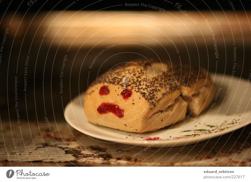 :( Lebensmittel Traurigkeit Angst außergewöhnlich Teller Appetit & Hunger Brötchen Backwaren Teigwaren Frustration Smiley Enttäuschung Verbitterung geschmacklos