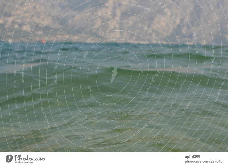Im See Natur blau grün Ferien & Urlaub & Reisen Sommer Umwelt Berge u. Gebirge Wellen Ausflug Schönes Wetter Wellengang Europa Gardasee