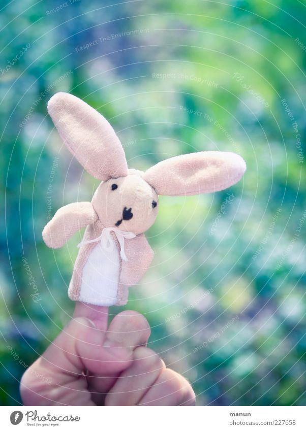 Mein Name ist Hase.... Hand schön Freude Spielen klein Stimmung lustig Feste & Feiern rosa Finger Fröhlichkeit außergewöhnlich niedlich Dekoration & Verzierung weich Kitsch