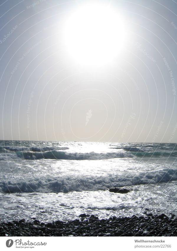 die perfekte welle Wasser Sonne Meer Winter Strand Ferien & Urlaub & Reisen Sand Wellen Brandung Schaum Salz Gischt Fuerteventura