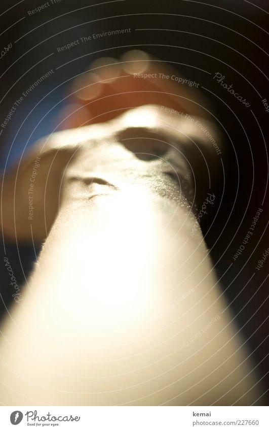 Hand aufhalten Mensch Frau Erwachsene hell Arme Haut leuchten Finger Gefäße ausgestreckt Gelenk