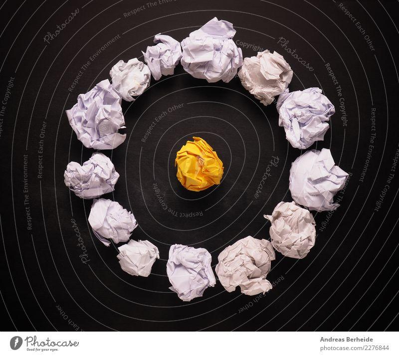 Großartige Idee entsteht aus vielen kleinen Ideen Business Büro Kraft Kreativität Erfolg einzigartig Papier Grafik u. Illustration Team Symbole & Metaphern