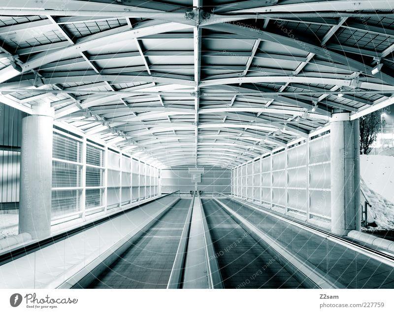 F blau Ferne dunkel kalt Bewegung Architektur Horizont Zufriedenheit Treppe Ordnung elegant Design modern ästhetisch Perspektive Dach