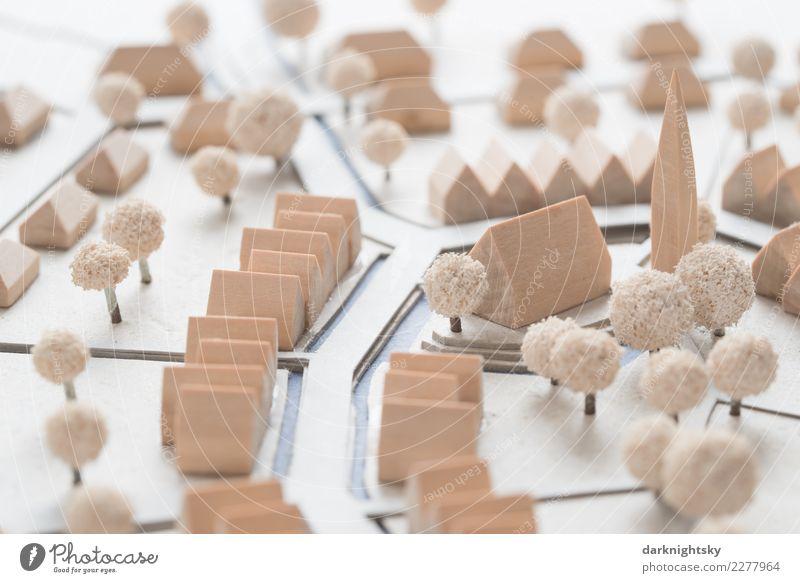 Architektur Siedlung Modell Mit Kirche   Ein Lizenzfreies Stock Foto Von  Photocase