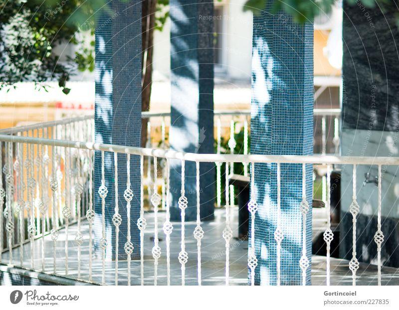 Wudu' Gebäude blau Moschee Geländer Lichtschein Lichtspiel Säule verziert Islam Cihangir Firüzaga Cami Istanbul Türkei Farbfoto Außenaufnahme Tag