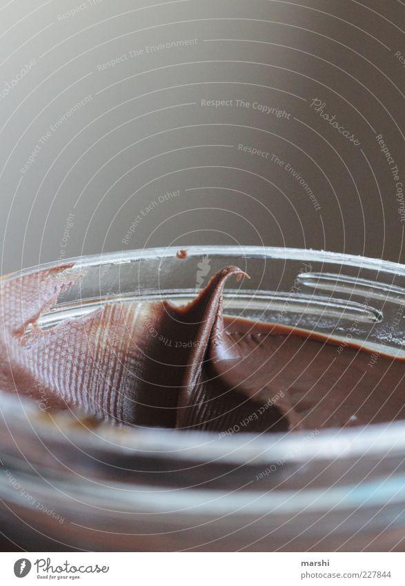 Lieblingsbrotaufstrich Lebensmittel Süßwaren Schokolade Ernährung lecker braun nutella Nussnugatcreme Glas geschmackvoll Kalorie Appetit & Hunger Farbfoto