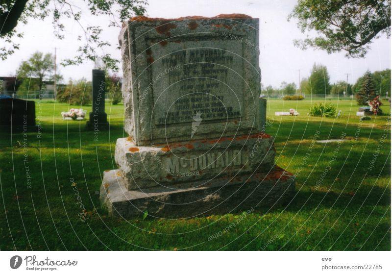 Grabstein Friedhof Dinge Grabstein mit Moos Tod