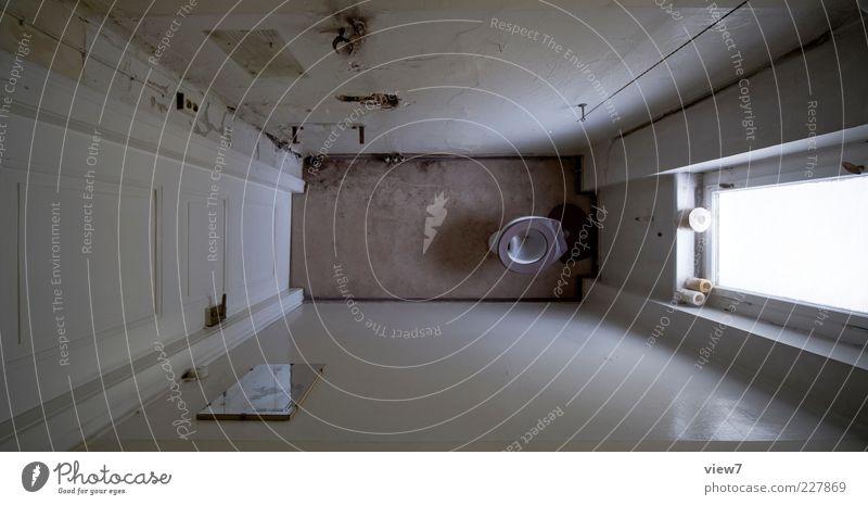 tief :: alt Haus Wand Fenster Holz Mauer Stein klein Linie Tür Zeit Raum dreckig hoch leer kaputt