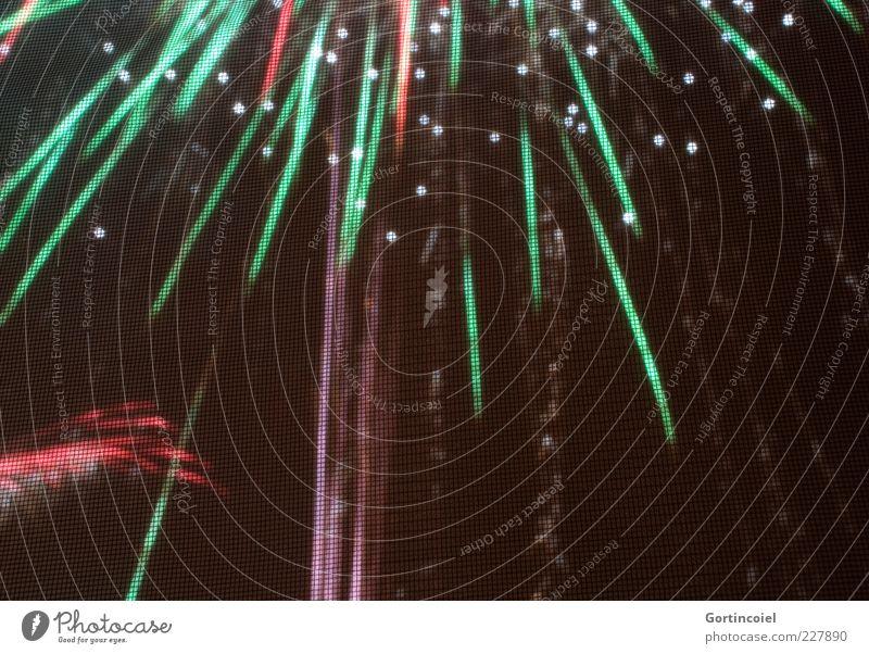 Explosiv grün rot Glück Feste & Feiern glänzend Fröhlichkeit neu Silvester u. Neujahr Feuerwerk Lichtspiel