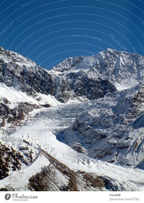 Gletscherzunge Schnee Berge u. Gebirge Eis Gletscher Bundesland Tirol Gletscherzunge