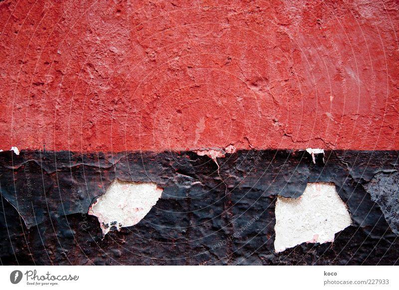 Die Mauern von Fengdu – ROT alt weiß rot schwarz Wand Mauer Stein Farbstoff Hintergrundbild Fassade ästhetisch Wandel & Veränderung Vergänglichkeit Asien fest Backstein