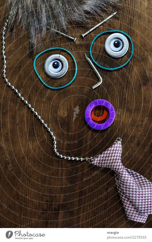 Emotionen...coole Gesichter: Gentleman Mensch Mann Auge Erwachsene braun maskulin violett