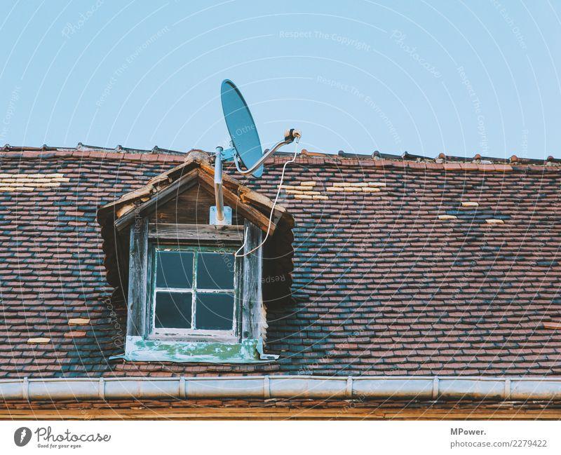sat Fernseher Kabel Technik & Technologie Unterhaltungselektronik Fortschritt Zukunft High-Tech Telekommunikation Informationstechnologie Satellitenantenne Dach