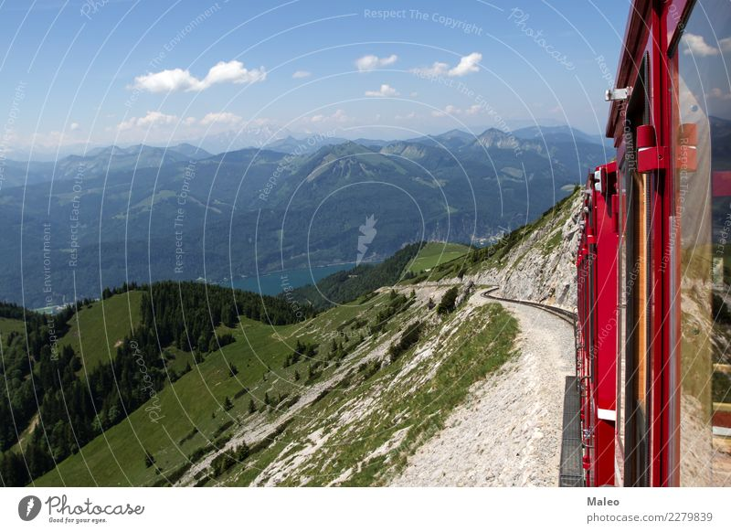 Alpen Ferien & Urlaub & Reisen Sommer Berge u. Gebirge retro Europa Eisenbahn Personenverkehr Österreich Tourist Bahnhof Zahnrad Wasserdampf Lokomotive