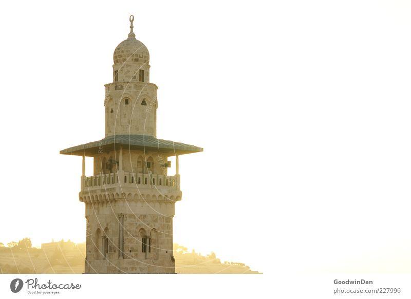 Gold schön Architektur hell hoch Tourismus Turm Bauwerk historisch Sehenswürdigkeit Islam Kirchturmspitze