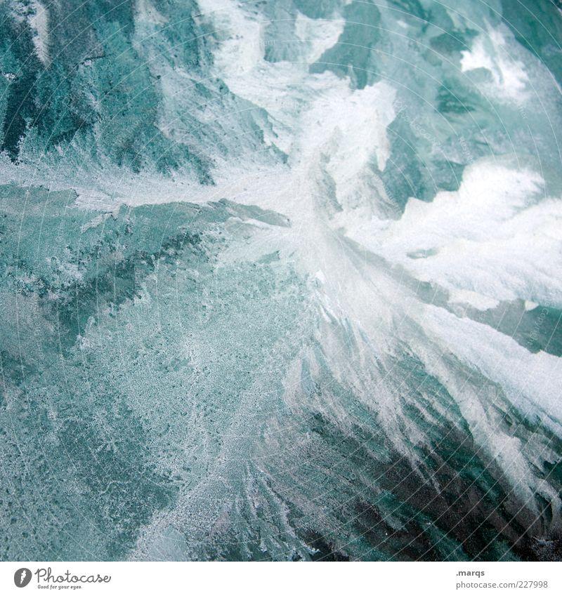 Frost Urelemente Eis Glas fest einzigartig kalt Wandel & Veränderung Farbfoto Außenaufnahme Nahaufnahme Muster Strukturen & Formen Surrealismus abstrakt