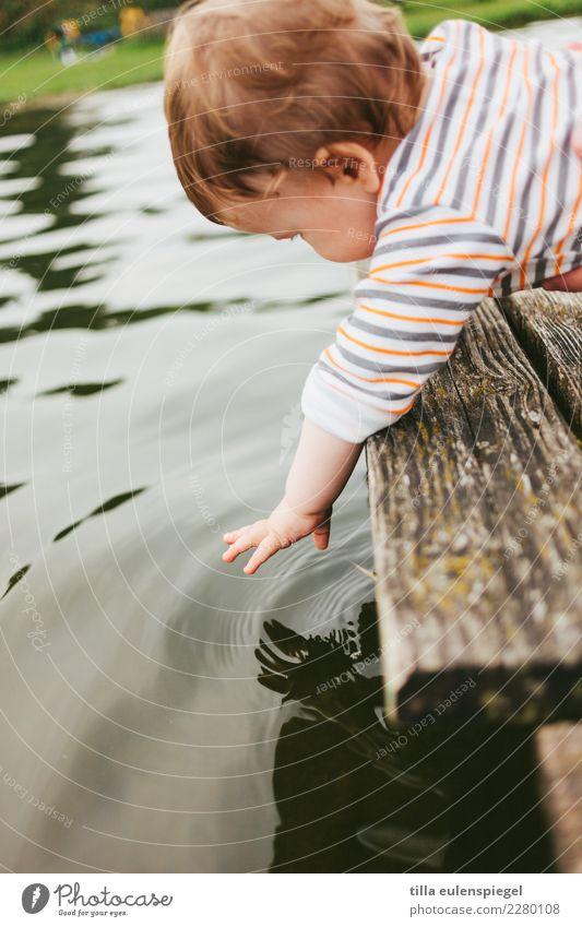 Pitsch Patsch Spielen Ferien & Urlaub & Reisen Tourismus Ausflug Abenteuer Kind Baby Kleinkind Kindheit Leben Umwelt Natur Wasser Sommer Teich See beobachten