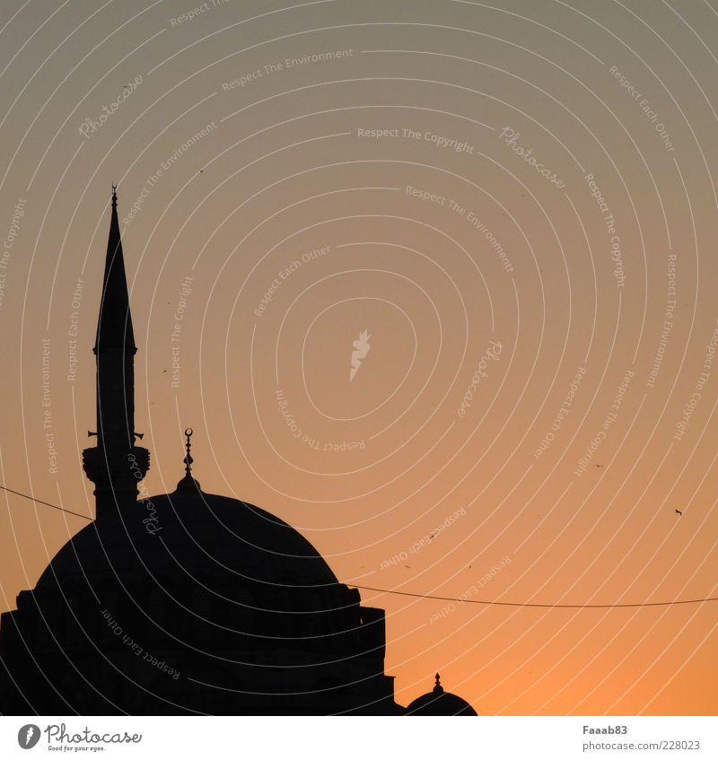 1001 Nacht ruhig Architektur Religion & Glaube Tourismus Kirche Turm Bauwerk Sehnsucht Asien Skyline Fernweh Sehenswürdigkeit Osten Türkei Kunstwerk