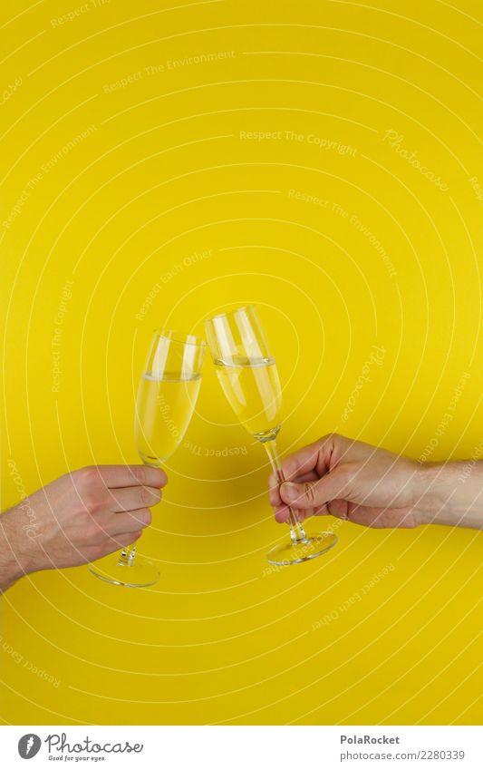 #AS# PROST ! Mensch Feste & Feiern Silvester u. Neujahr Anstoß Zuprosten Sekt Champagner Hand Gesellschaft (Soziologie) Menschengruppe Freundschaft Geburtstag