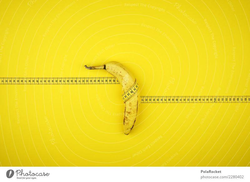#AS# Baaanaaaannaaaaaaaaa Fitness Sport-Training Essen Maßband messen Banane Frucht Energie Diät Gesundheit Vitamin gelb dick dünn umwickelt Bewegung