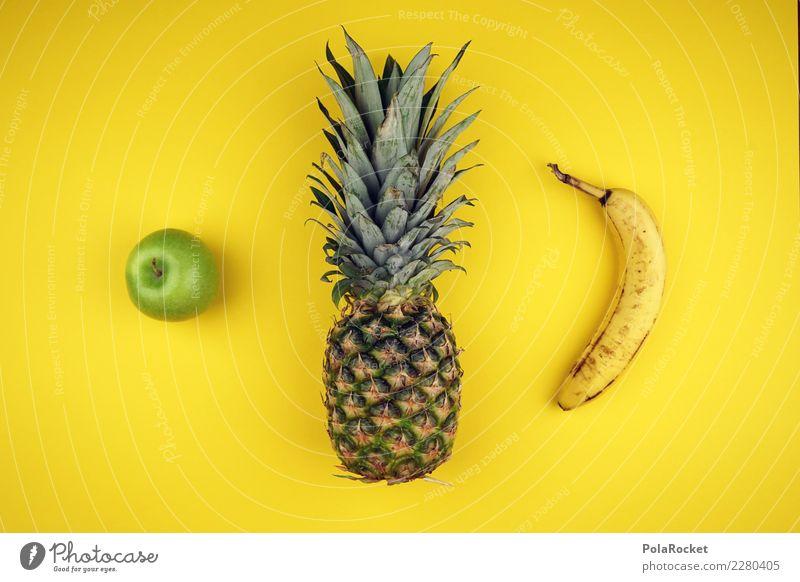 #AS# Die 3 aus dem Supermarkt Fitness Sport-Training Diät Essen Ananas Banane Apfel grün gelb Vitamin Frucht Gesunde Ernährung Süden natürlich mehrfarbig dick
